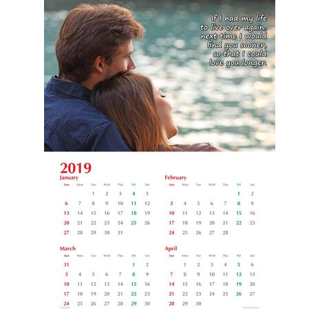 Personalised Sentimental Wall Calendar